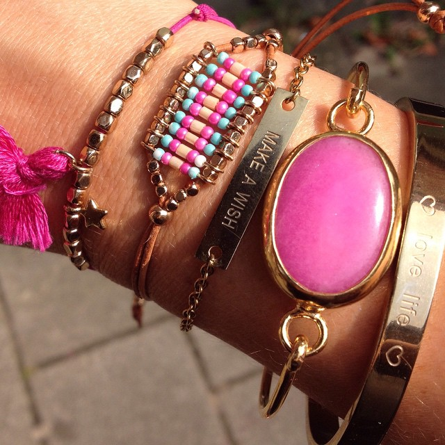 myjewellery summer armcandy jewelry pink gold fashion bracelet sunhellip
